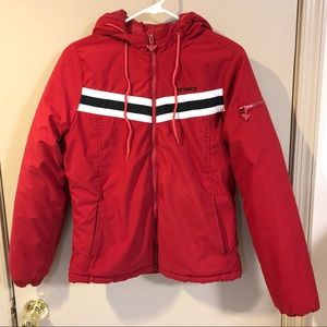 Roxy Red Stripe Ski Snowboard Jacket - Size Small